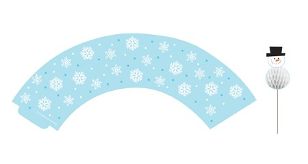 Snowflake Cupcake Wrapper & Picks