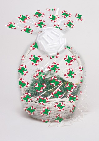 Candy Cane Cello Basket Bags 2-count