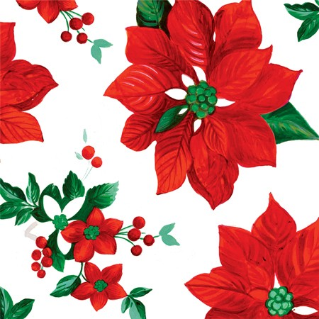 Holiday Floral 2-Ply Beverage Napkins