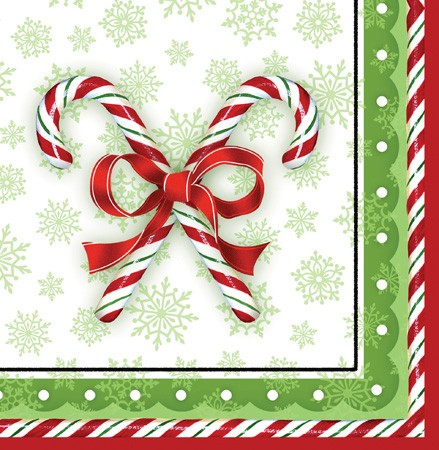 Candy Cane Bliss 3-Ply Lunch Napkins