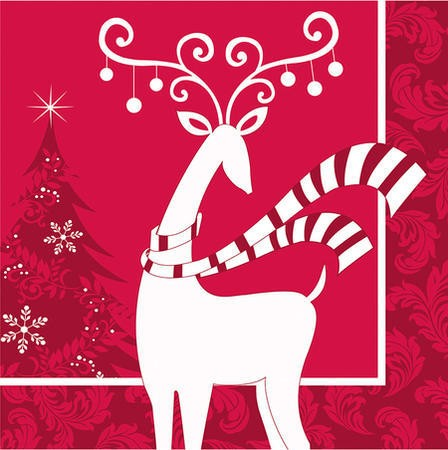 Dashing Prancer 3-Ply Beverage Napkins