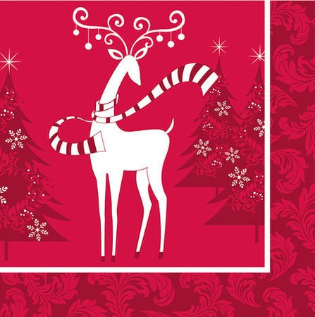 Dashing Prancer 3-Ply Lunch Napkins