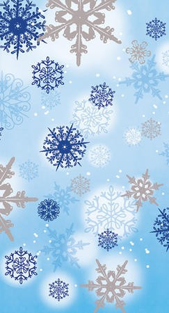 Shimmering Flakes 3-Ply Guest Napkins