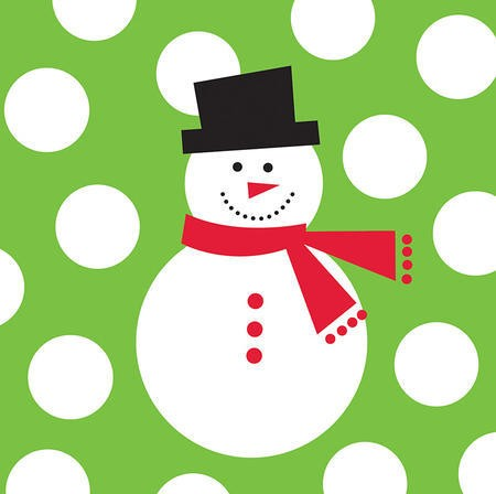 Snowman Dots Big Value 2-Ply Beverage Napkins
