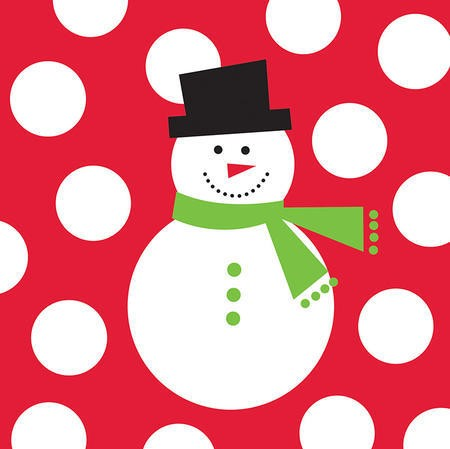 Snowman Dots Big Value 2-Ply Lunch Napkins