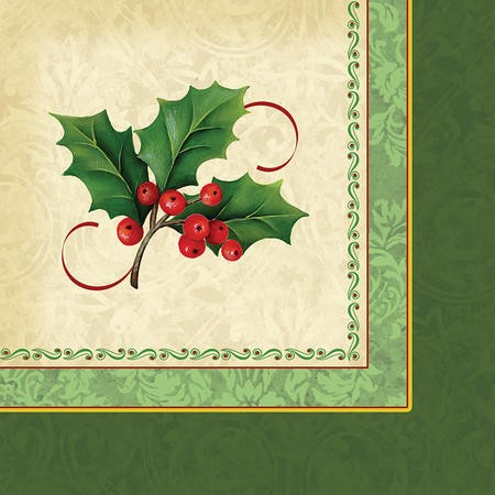 Holly Traditions 2-Ply Beverage Napkins