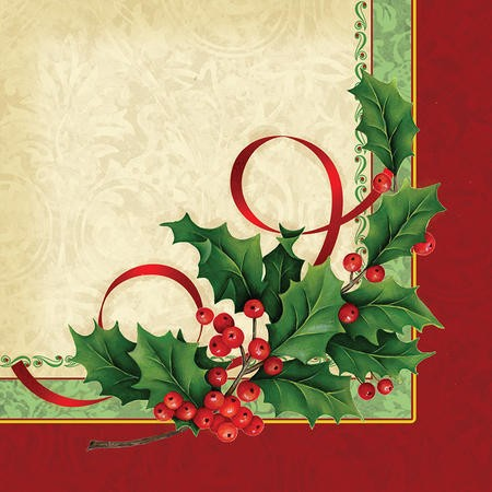 Holly Traditions 2-Ply Lunch Napkins