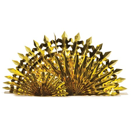 Glitz Gold Fan Centerpiece