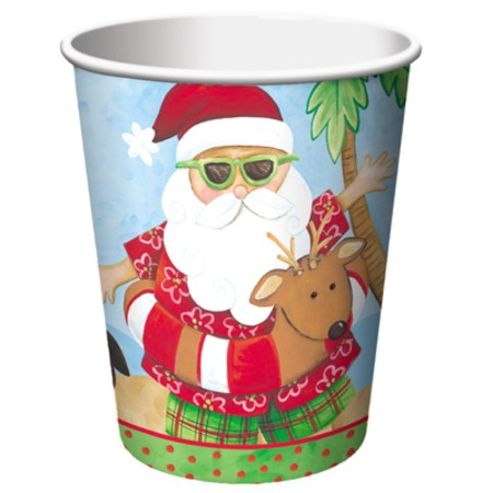 Santa's Holiday 9 oz HotCold Cups