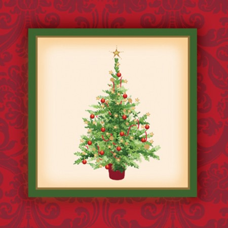 Holiday Spruce 2-ply Beverage Napkins