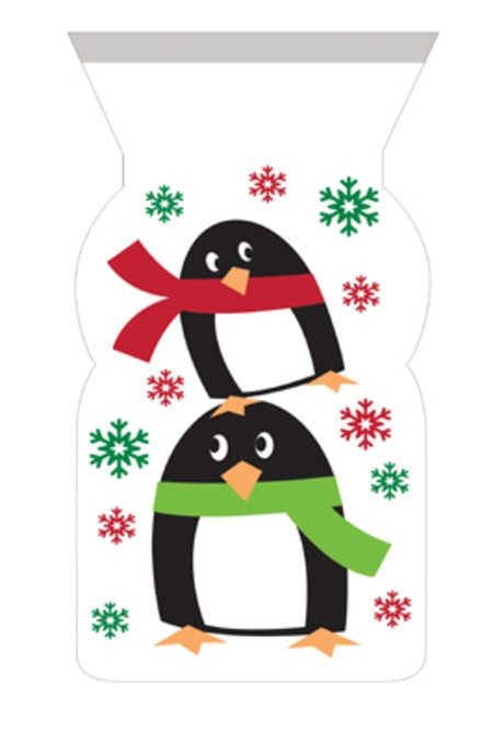 Penguin Cello Bags with Twist Ties