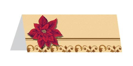 Opulent Poinsettia Placecards
