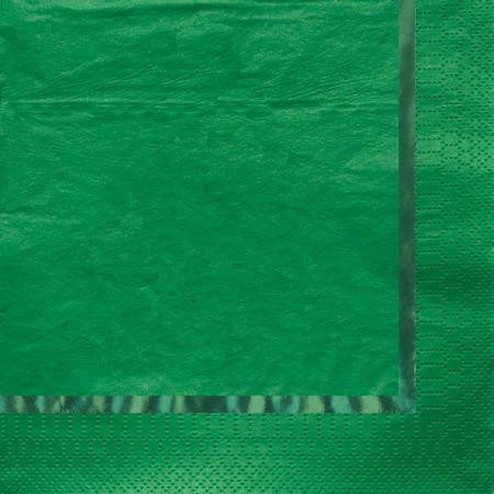 Glitz Green 3-Ply Beverage Napkins with Foil Stamp