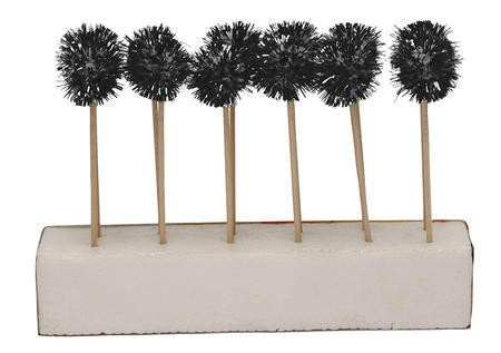 Glitz Black Pom Pom Cocktail Picks
