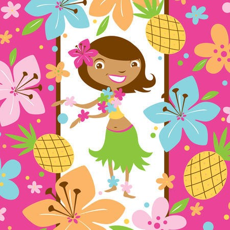 Pink Luau Fun 3-Ply Lunch Napkins