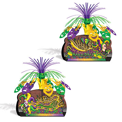Mardi Gras Float Centerpiece - 12 Inch