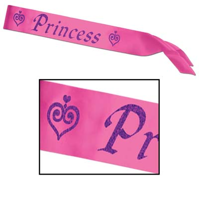 Princess Satin Sash 27x3.5in