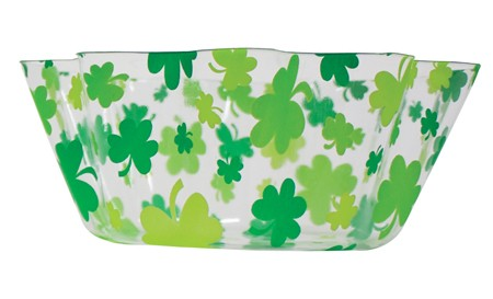 Shamrock 8in Fluted Plastic Bowl