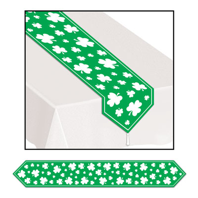Printed Shamrock Table Runner 11in x 6ft
