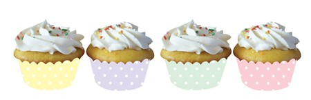 Pastel Dots Cupcake Wrapper