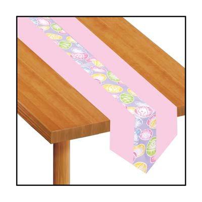 Easter Eggs Fabric Table Runner 12 x 6'