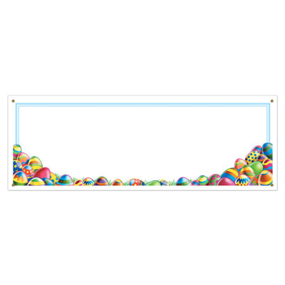 Easter Egg Hunt Sign Banner 5' x 21