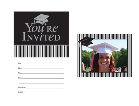 Grad Personalized Photo Invitations