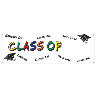 Class Of Year Sign Banner 5' x 21