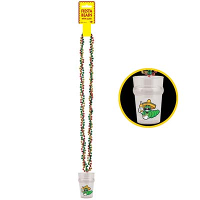 Braided Beads with Fiesta Glass - 36 Inch