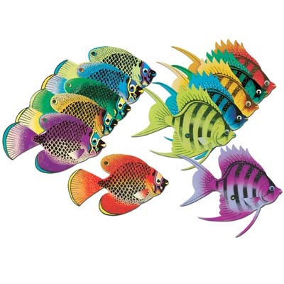 Deep Sea Tropical Fish 10in