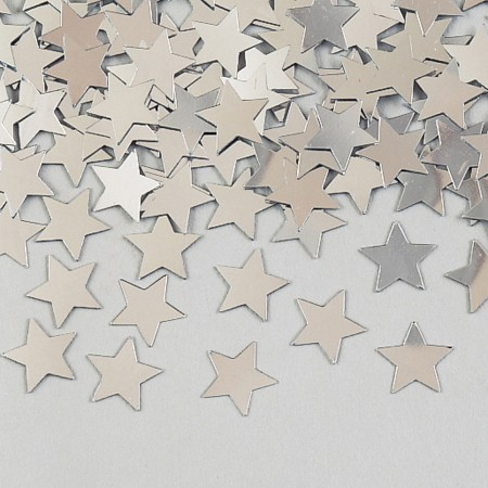 Silver Stars Shaped Confetti