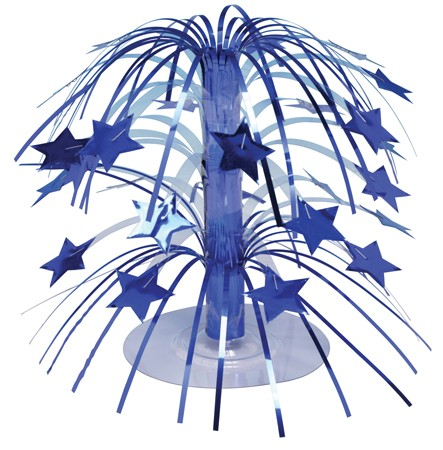 Blue Stars Foil Spray Centerpiece - 8in