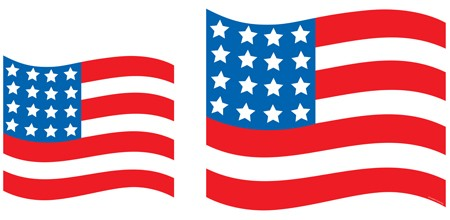 USA Flag 10.25 Inch Cutouts