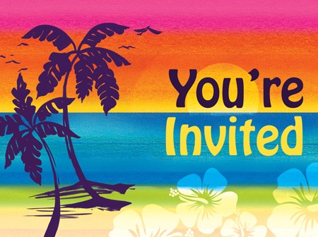 Aloha Summer Invitations