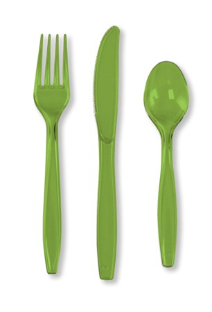 Fresh Lime Assorted Premium Plastic Cutlery