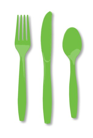 Citrus Green Assorted Premium Plastic Cutlery