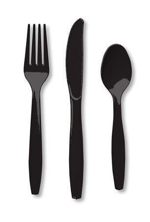 Black Velvet Assorted Premium Plastic Cutlery