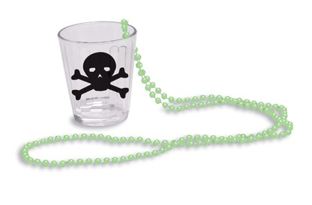 GID Bead Necklace with Shot Glass
