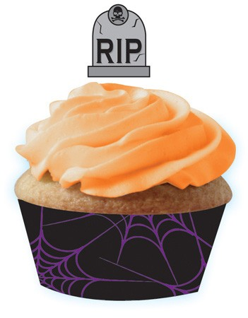 Gravestones Cupcake Wrapper & Picks