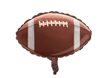 Tailgate Rush Football-Shaped Metallic Balloon
