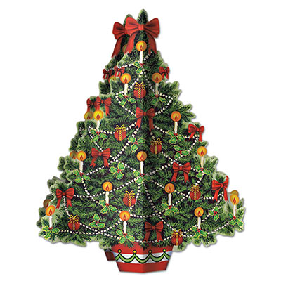 3-D Christmas Tree Centerpiece 11.75in