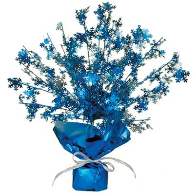 Snowflake Gleam 'N Burst Centerpiece 15in