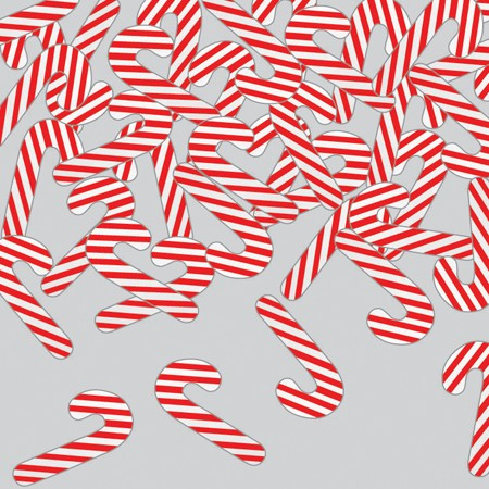 Candy Canes Shaped Confetti