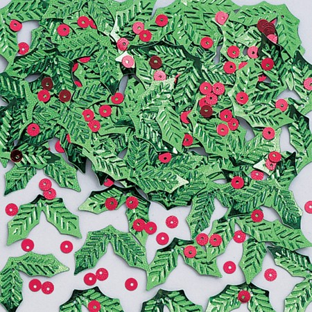 Holly & Berries Shaped Confetti