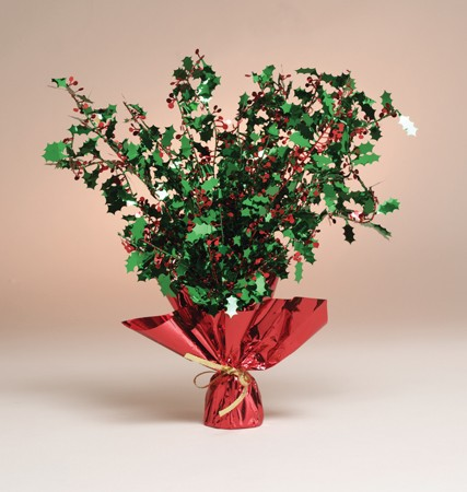 Holly Foil Spray Centerpiece