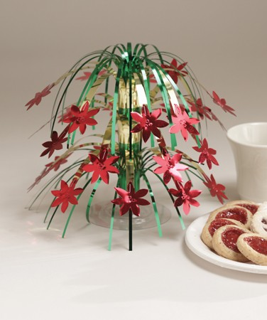 Poinsettias Mini Cascade Centerpiece