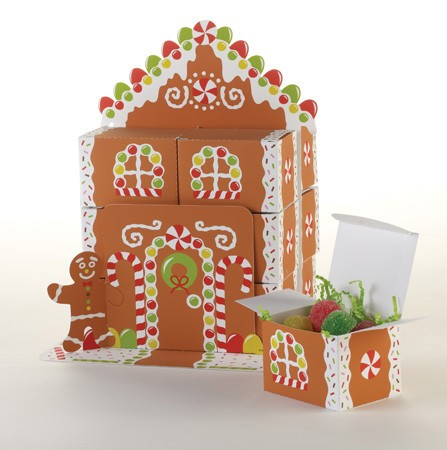 Gingerbread House Favorbox Centerpiece