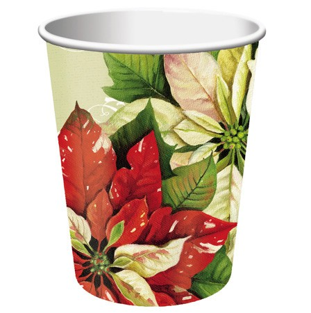 Vintage Poinsettia 9 Oz HotCold Cup