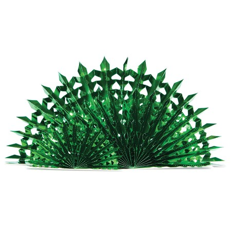 Glitz Green Fan Centerpiece