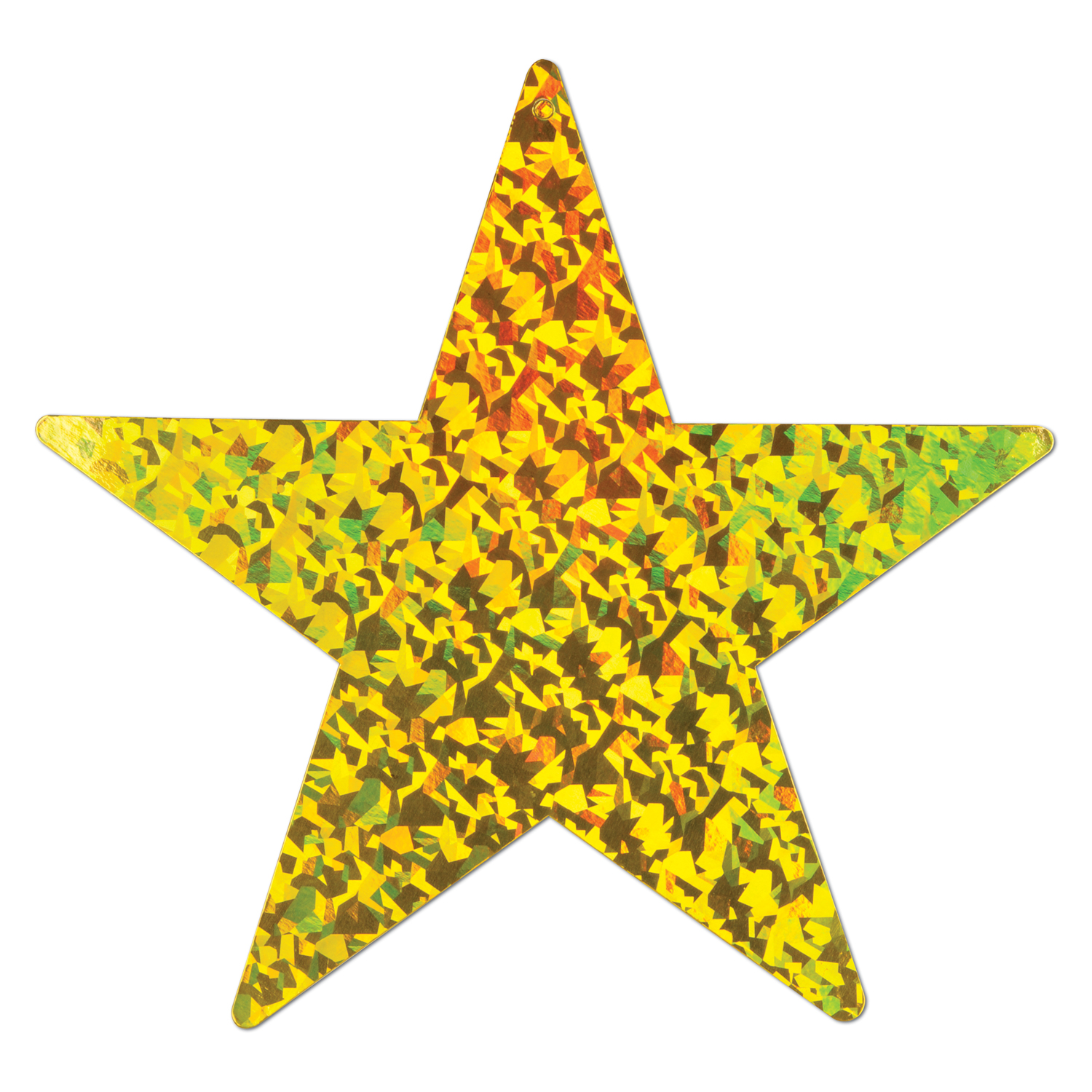 Prismatic Foil Star Cutout 9in gold